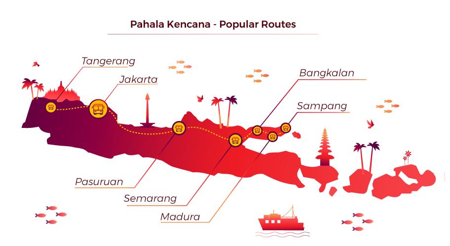 Pahala Kencana - Top Routes