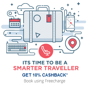 Redbus: Get 10% cashback upto Rs50 in your freecharge wallet