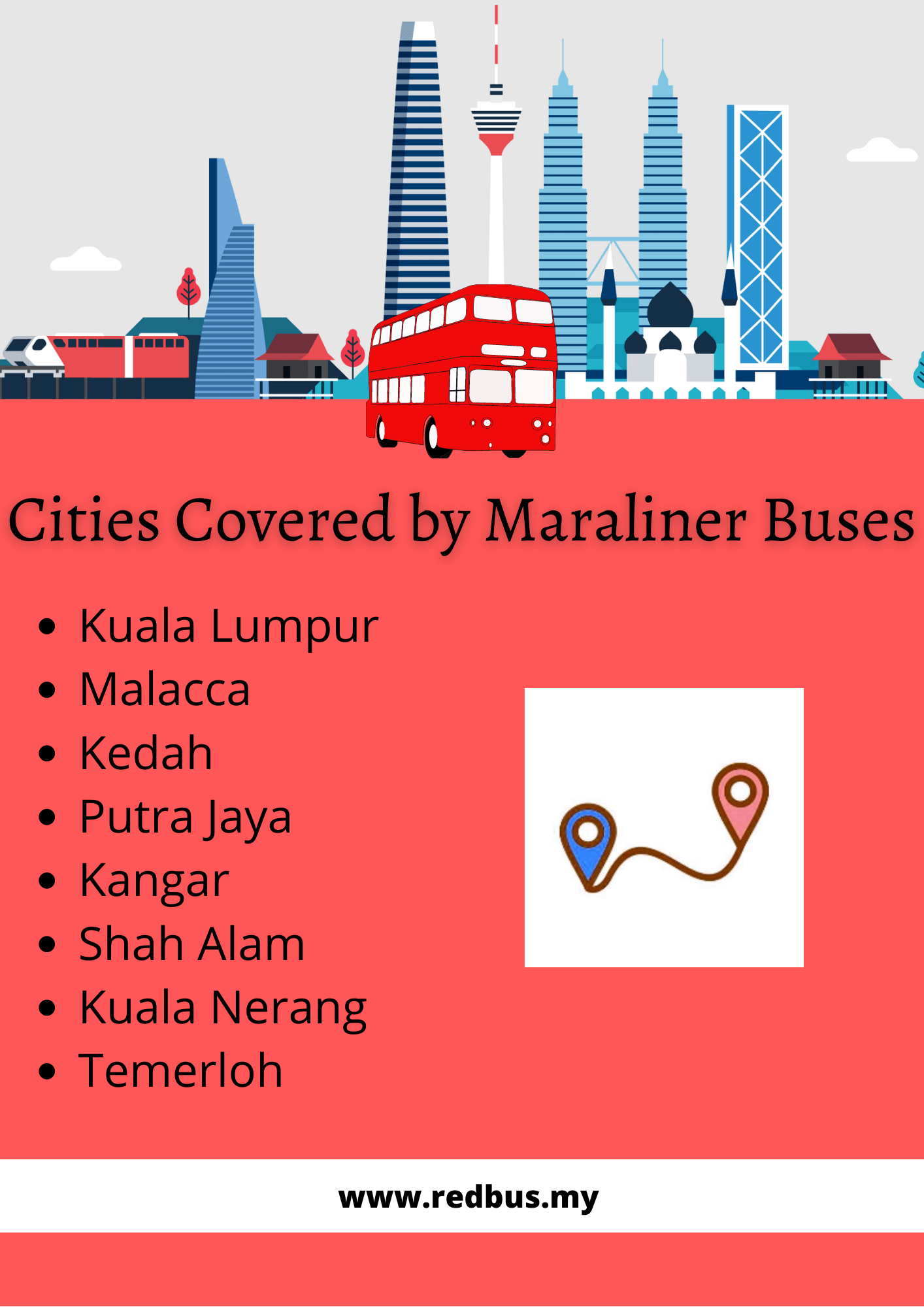 Cities Served By Maraliner Buses
