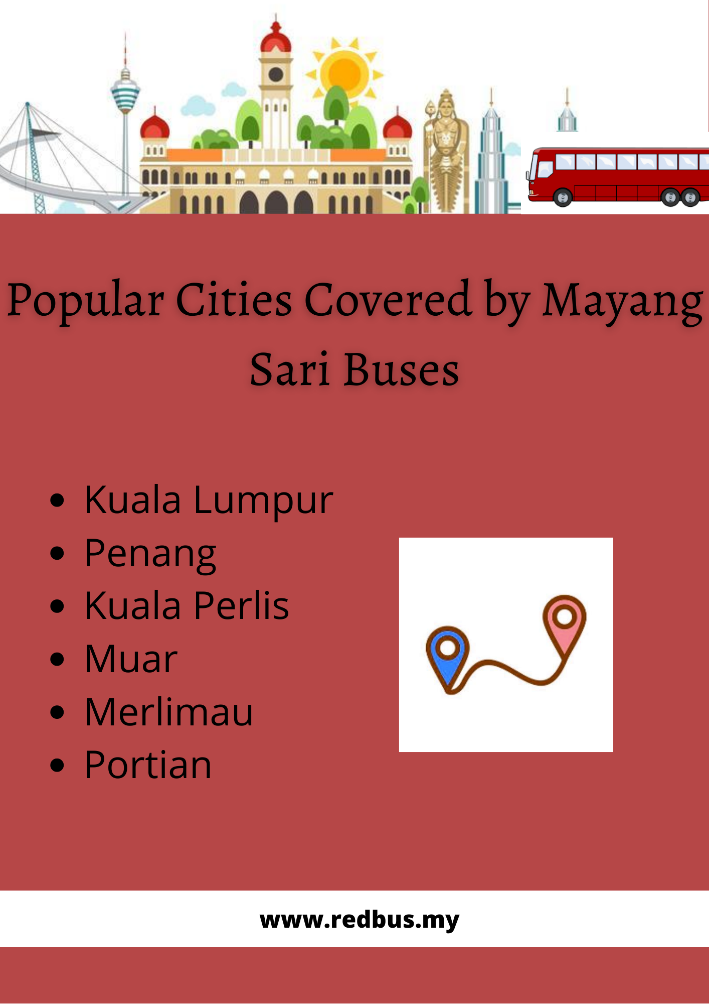 Cities Covered by Mayang Sari Buses