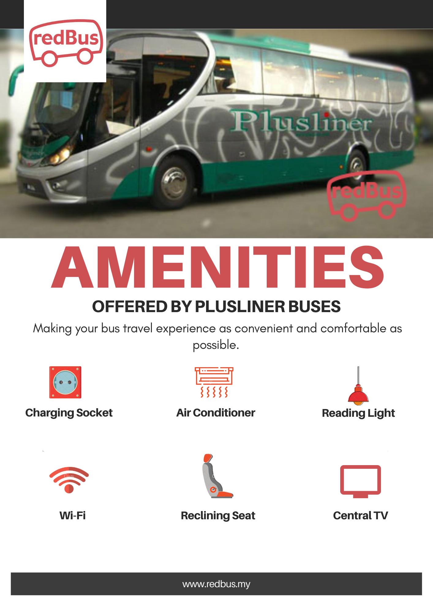 Amenities in Plusliner Buses