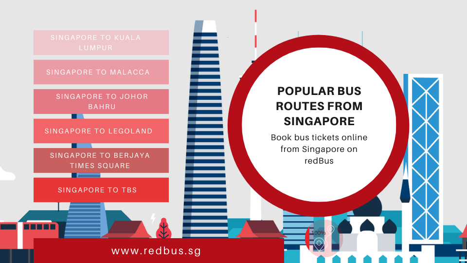 Book bus tickets online from Singapore on these popular routes with redBus!