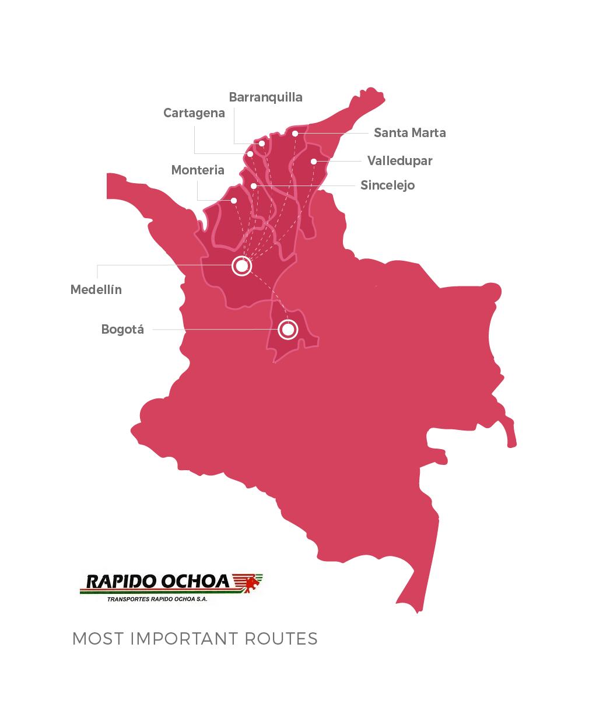 Rapido Ochoa Routes