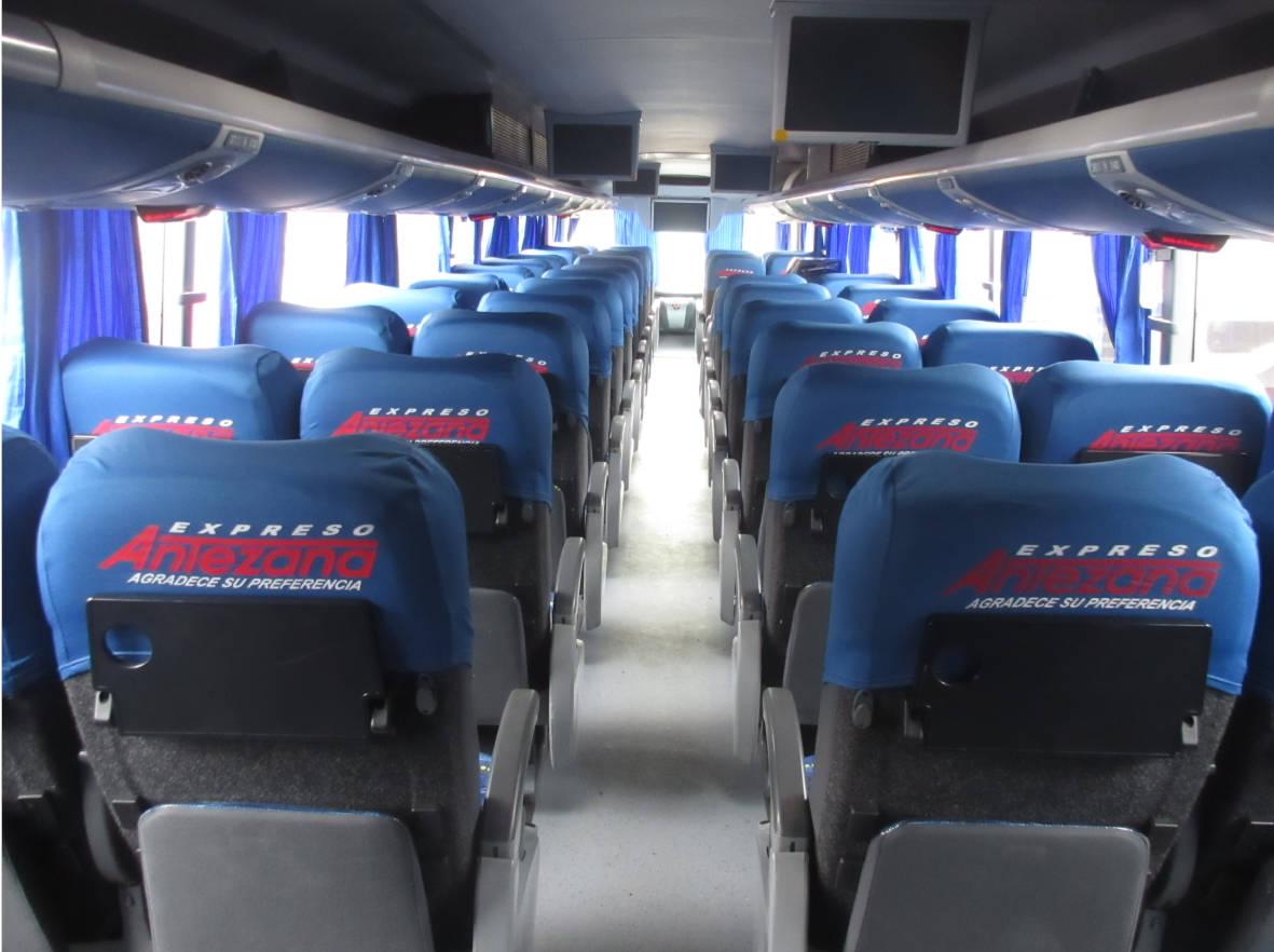 Asientos del Bus Expreso Antezana
