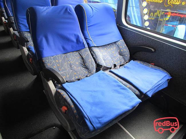 Interior del Bus Expreso Los Chankas
