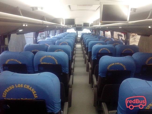 Asientos del Bus Expreso Los Chankas