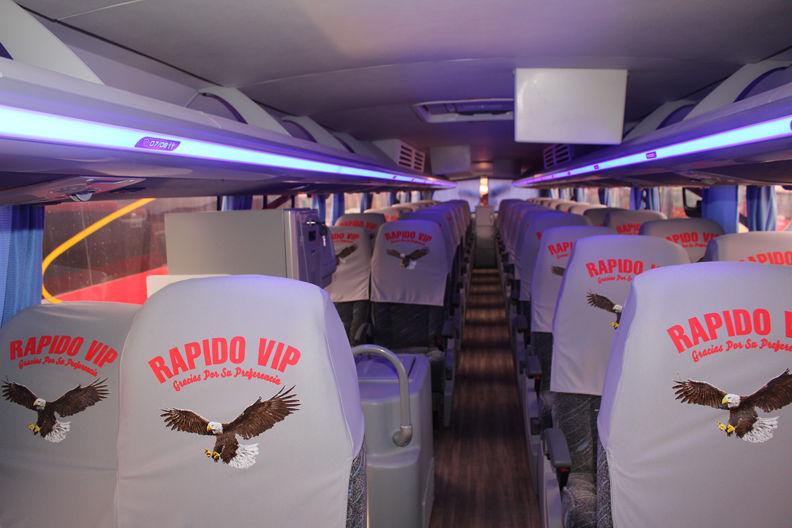 Interior de los Buses de Rápido Vip