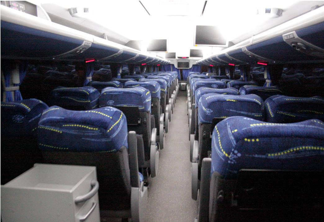 Asientos del Bus Transportes Chiclayo