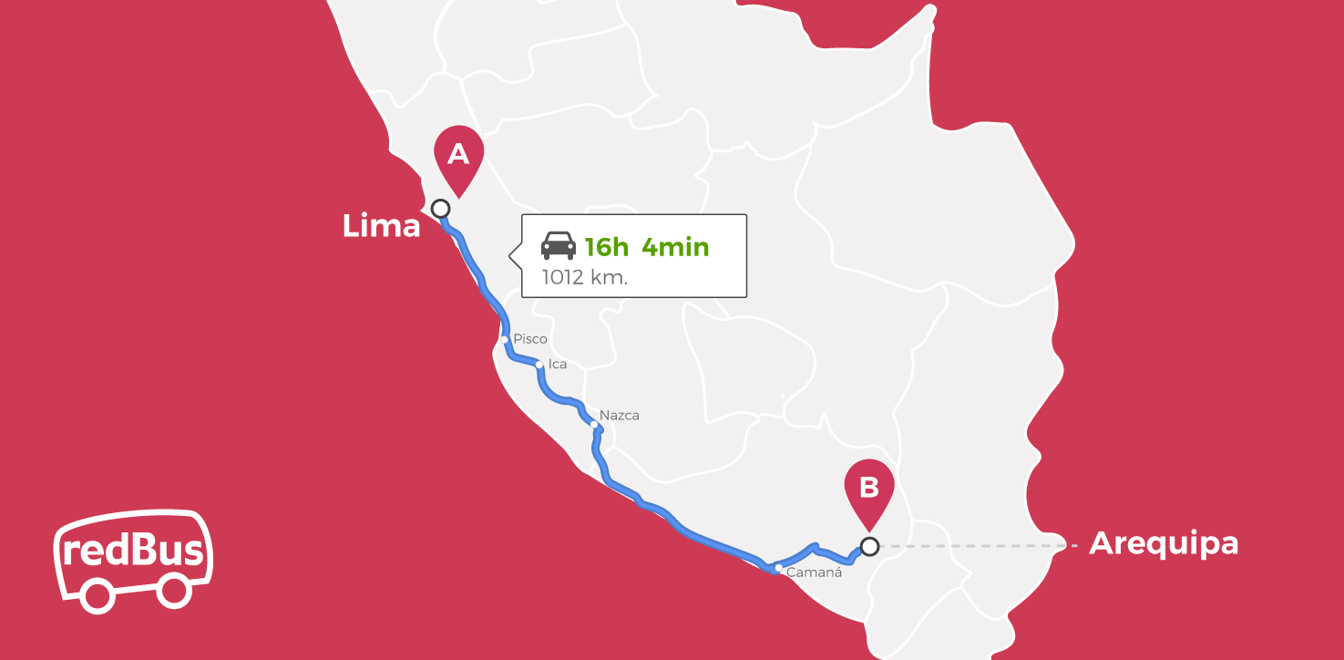 Lima to Arequipa Route