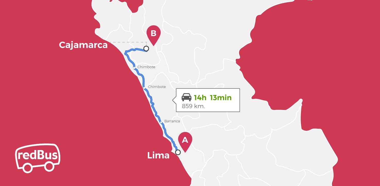 Lima to Cajamarca Route