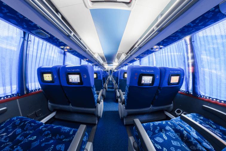 Interior del Bus Flota Occidental