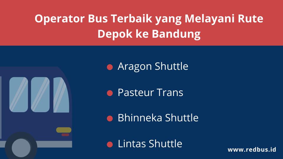 Daftar PO shuttle yang beroperasi dari Depok ke Bandung