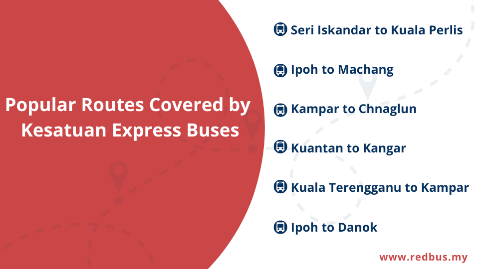 popular routes by Kesatuan Express