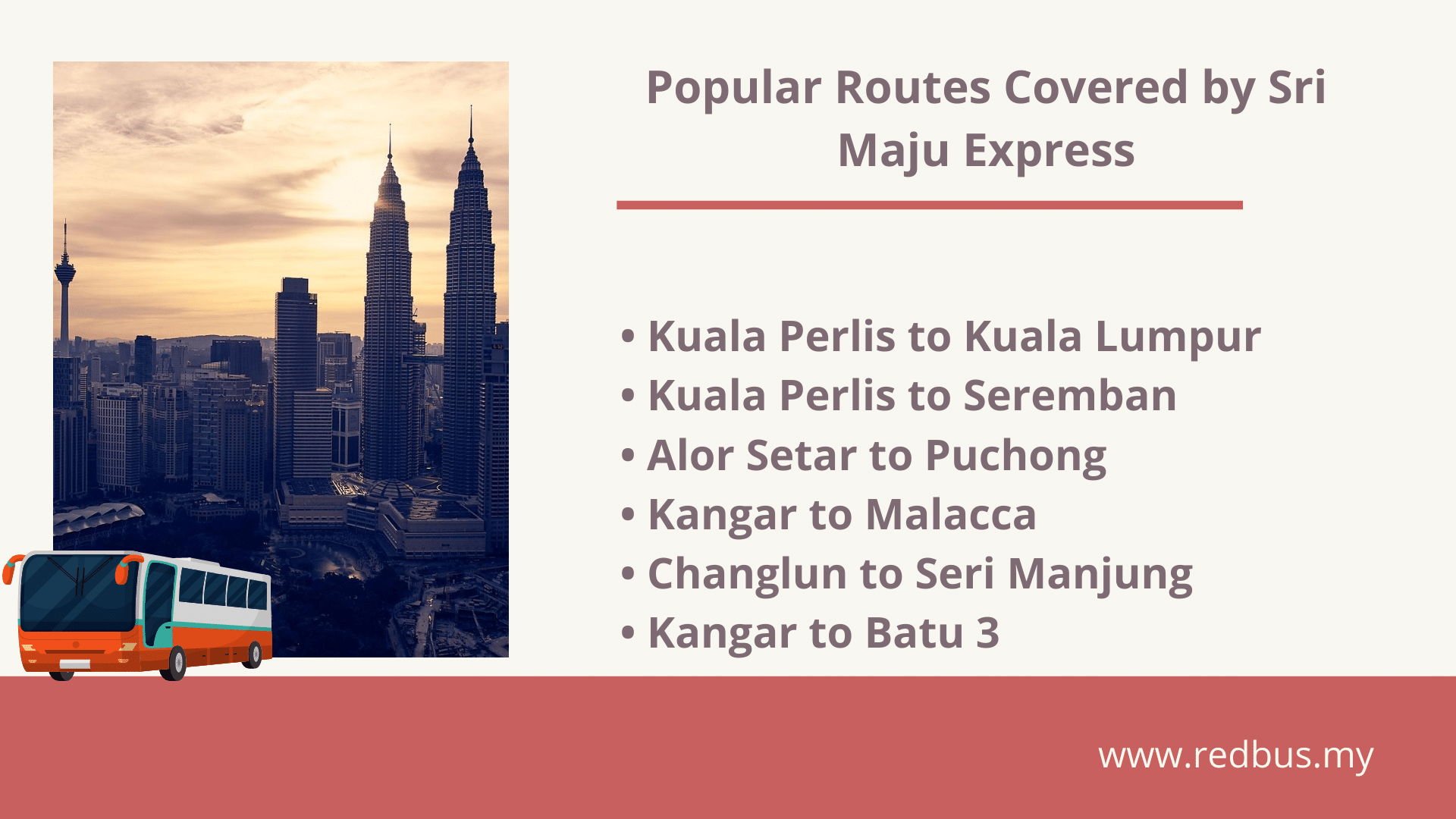 bus routes covered by sri maju express