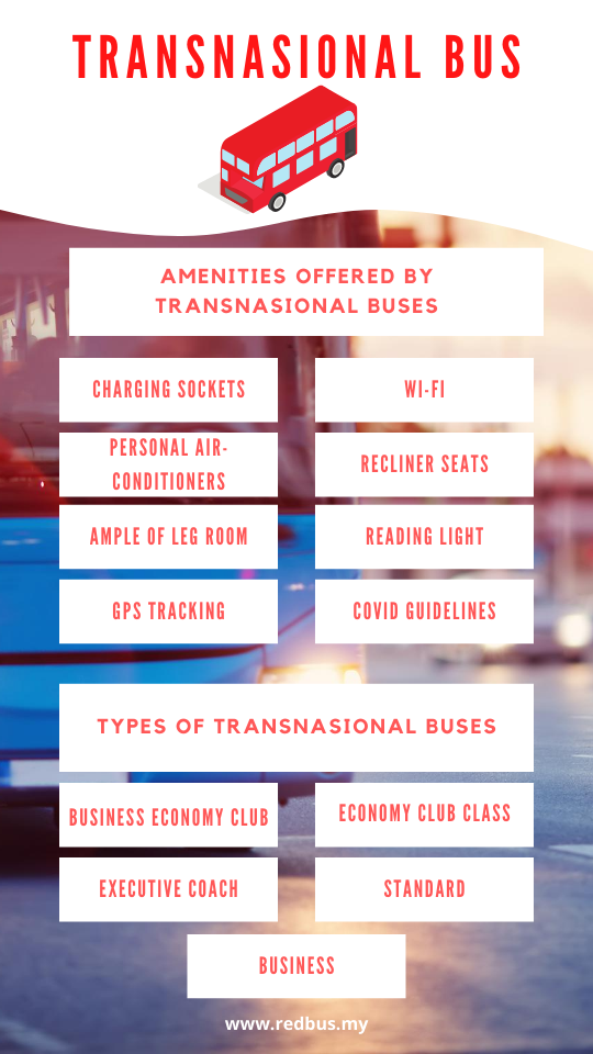 amenities on transnasional buses