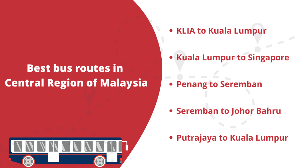 Best Bus Routes in Central Region of Malaysia
