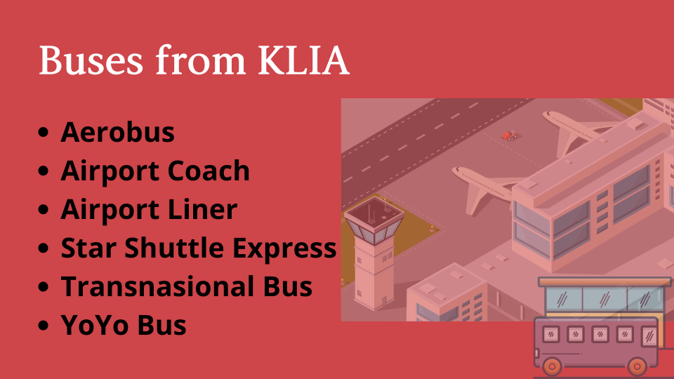 bus to and from klia2