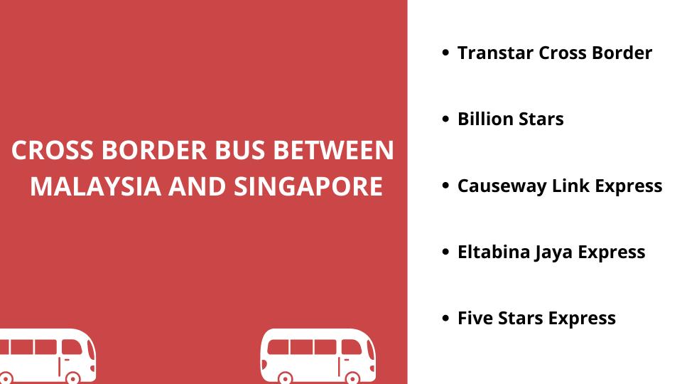 Cross border bus booking in Malaysia