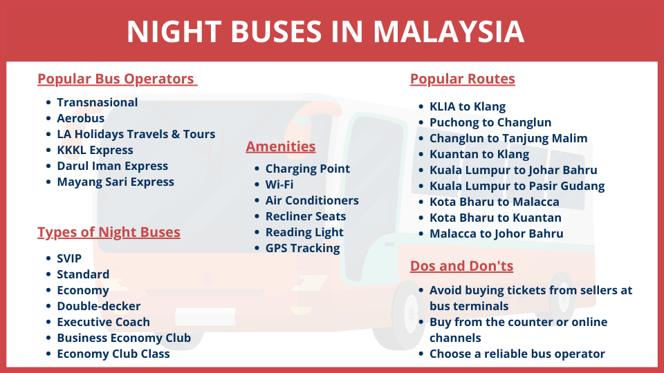 night bus booking in Malaysia