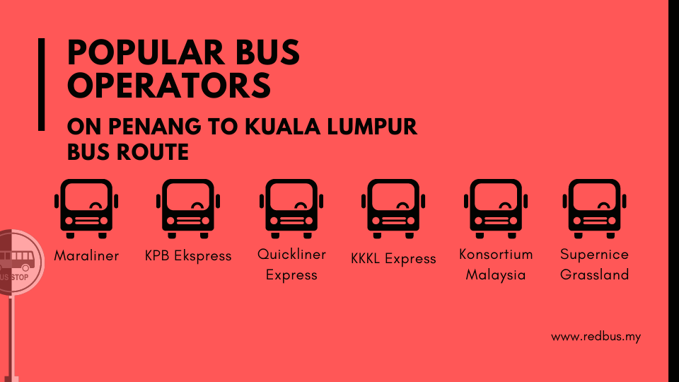 penang to Kuala Lumpur Bus Operators