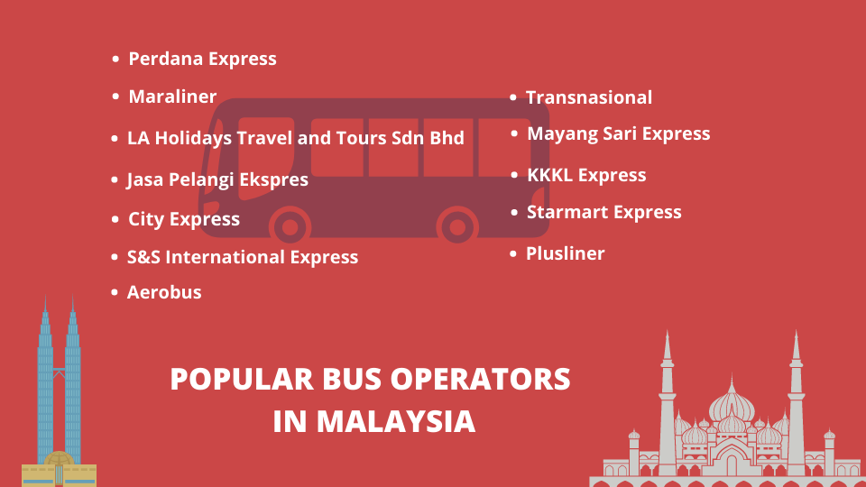popular bus operators in Malaysia for online bus ticket booking