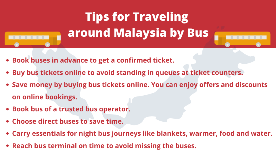 Tips for Travelling Around Malaysia By Bus