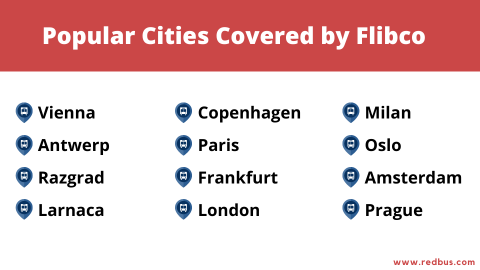 cities covered by flibco