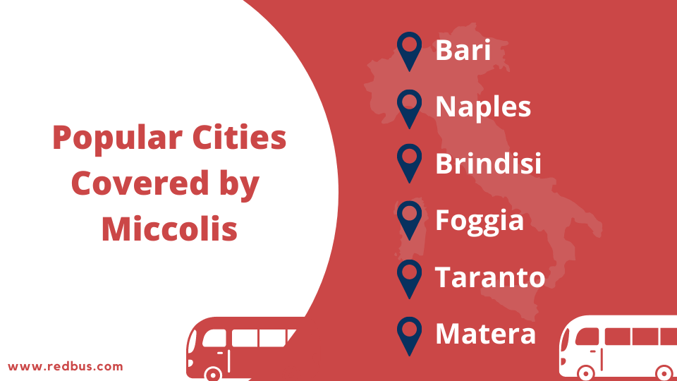 cities covered by Miccolis SPA