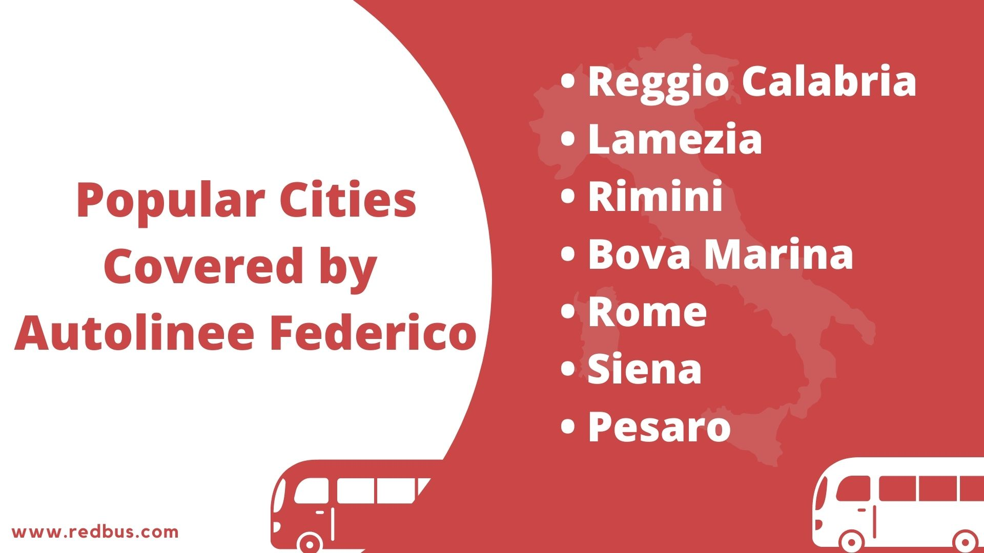 cities covered by autolinee federico