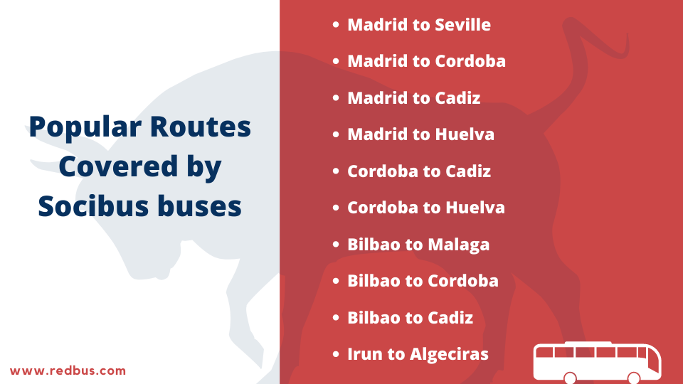 routes covered by socibus