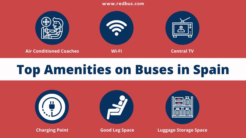 Amenities on buses in Spain