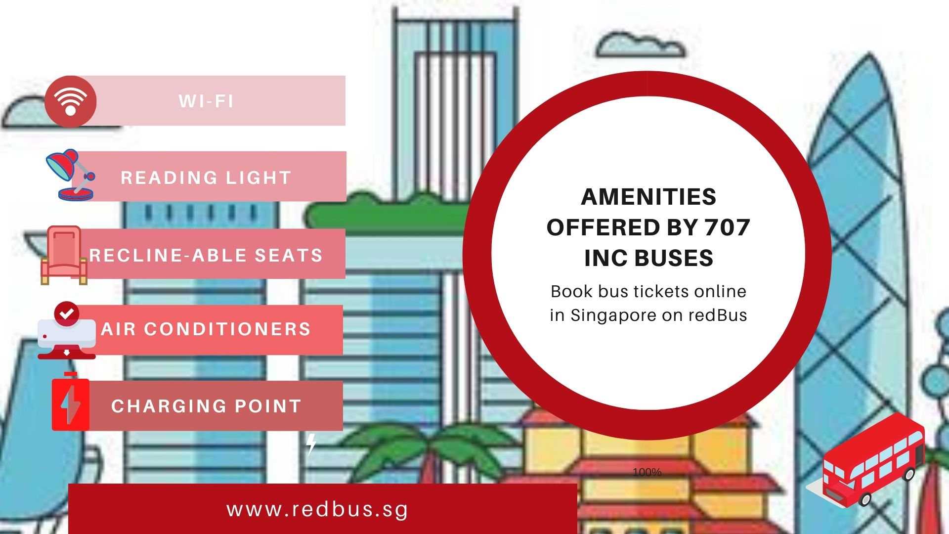 Amenities offered by 707 Inc