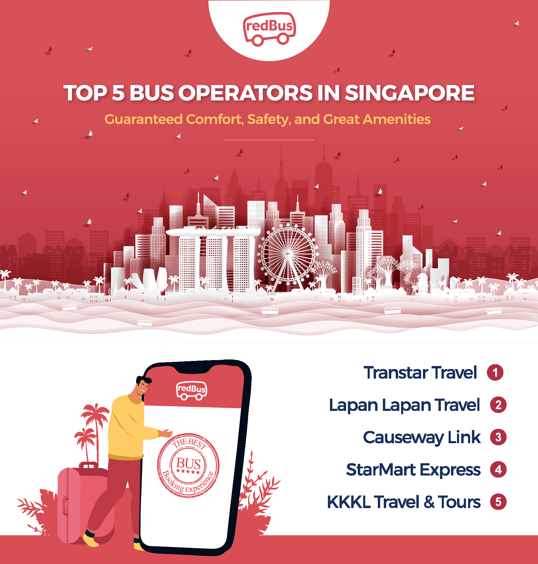 Bus Tickets Online with Best Bus Operators in Singapore