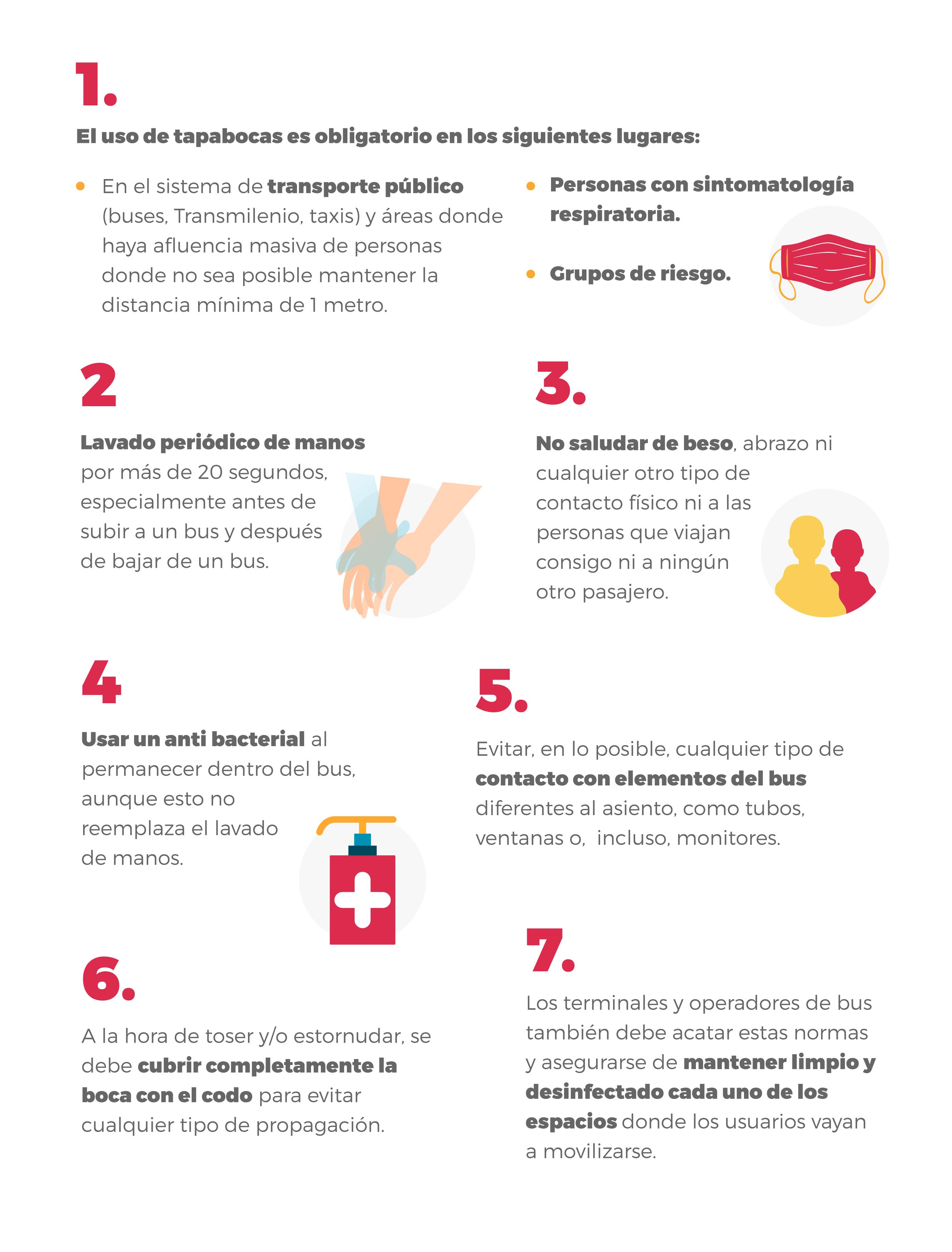Recomendaciones para prevenir el Coronavirus al viajar en bus
